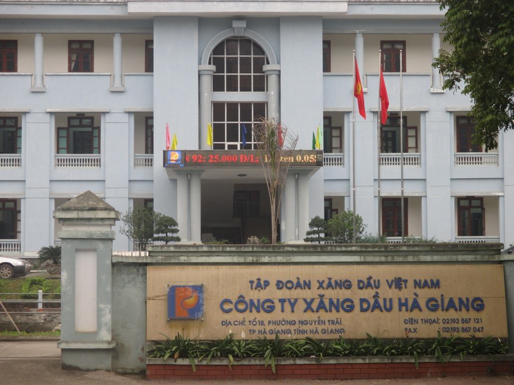 Trụ sở làm việc công ty xăng dầu Hà Giang