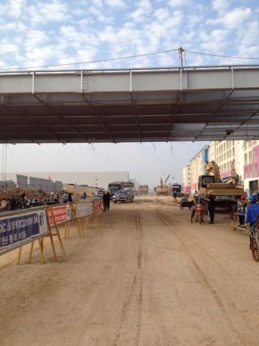 Lối vào KCN và nhà máy Samsung Thái Nguyên