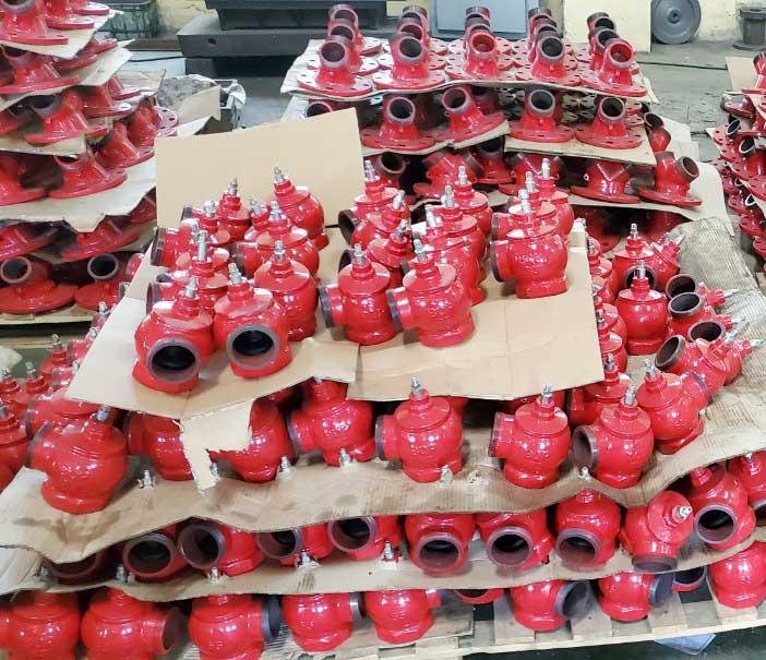 Van góc chữa cháy D50 Bộ Quốc Phòng